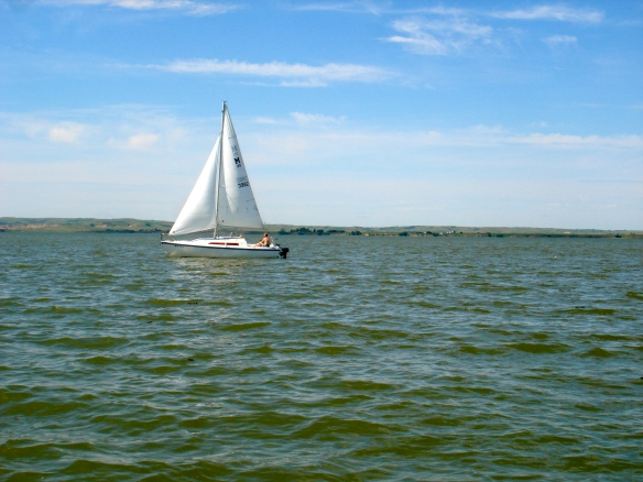Sailboat on Lake Sakakawea