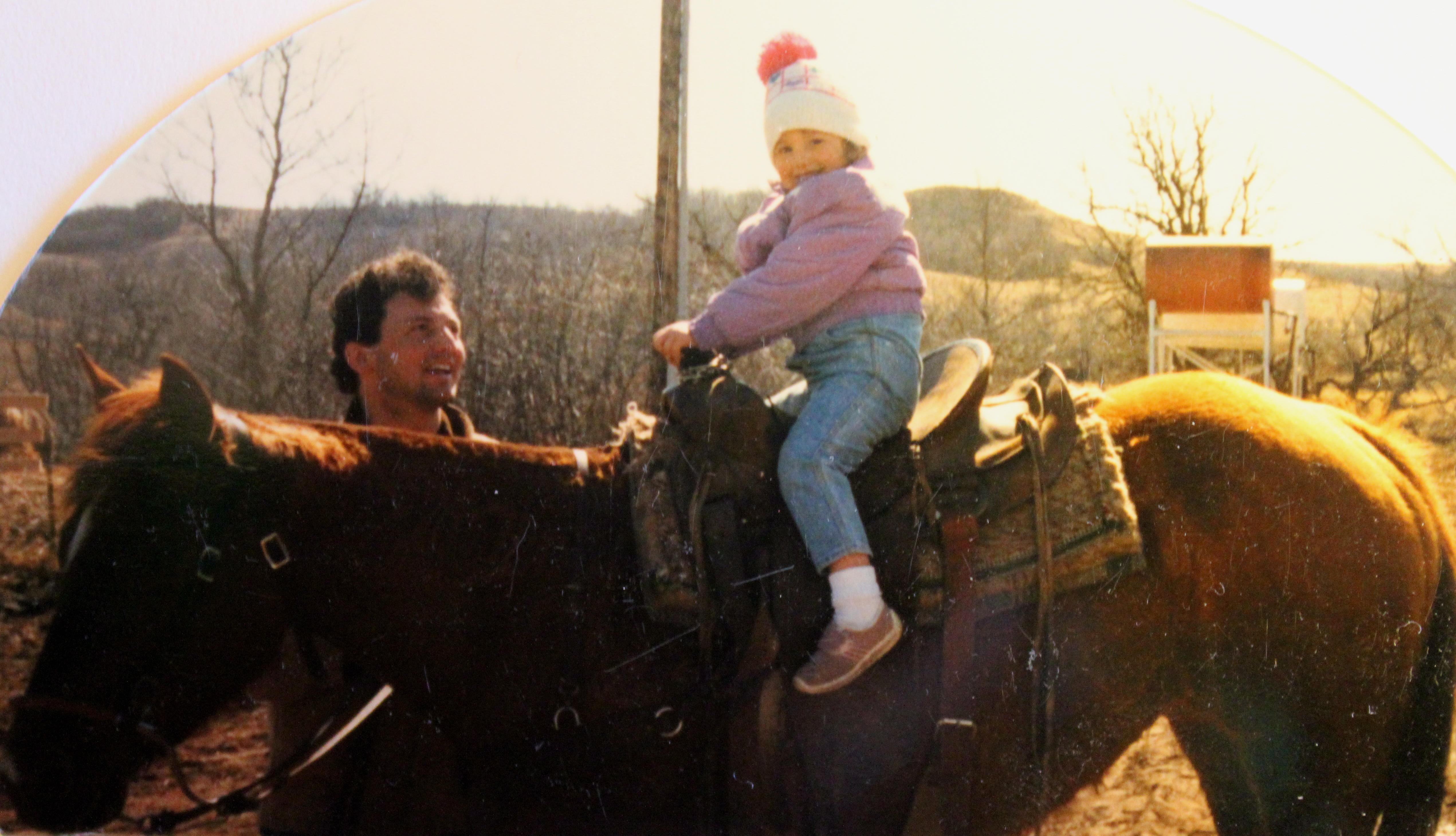 Pops and Me on a horse