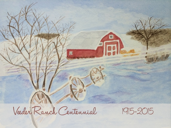 Veeder Ranch Centennial Card