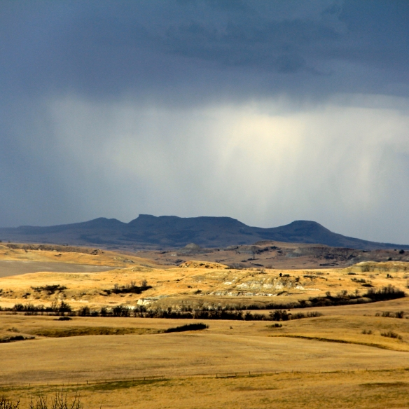 Rain on buttes