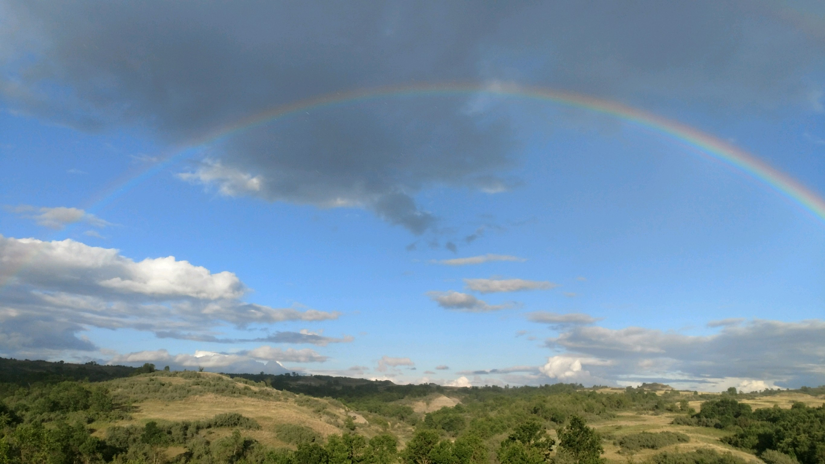 Rainbow over east pasture