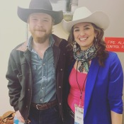 And then randomly, one of my favorites, Colter Wall was in the greenroom