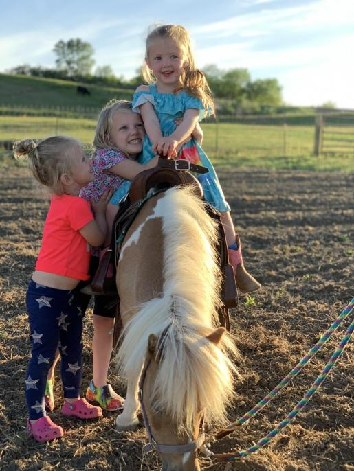 Kids and ponies